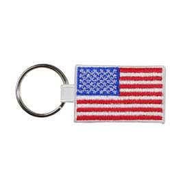 Embroidered American Flag Key Ring