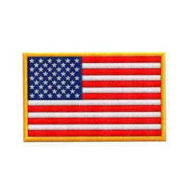 """3"""" x 1 7/8"""" DigiPrint American Flag Patch"""