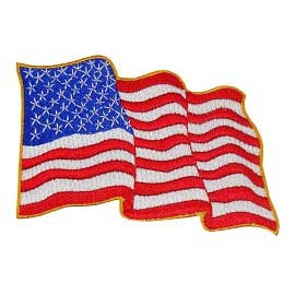 "2 3/4"" x 4 1/4"" Embroidered Waving American Flag"