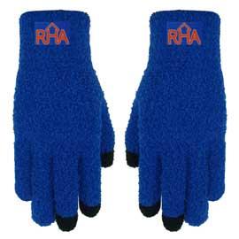 Fuzzy Text Gloves