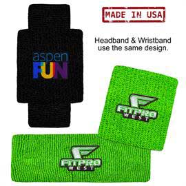 USA Made Headband and Wristband Combo