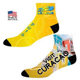 Full Color Couleurs Dye Sub Quarter Socks