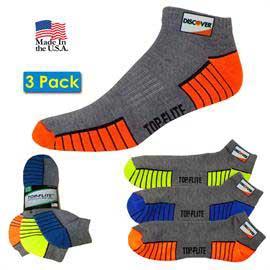 3 Pack Top Flite Low Cut Half Cushion Socks