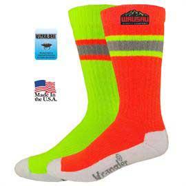 Wrangler Hi-Vis Crew Work Socks